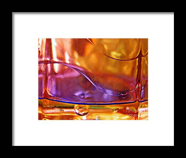Oil Framed Print featuring the photograph Oil And Water 14 by Sarah Loft