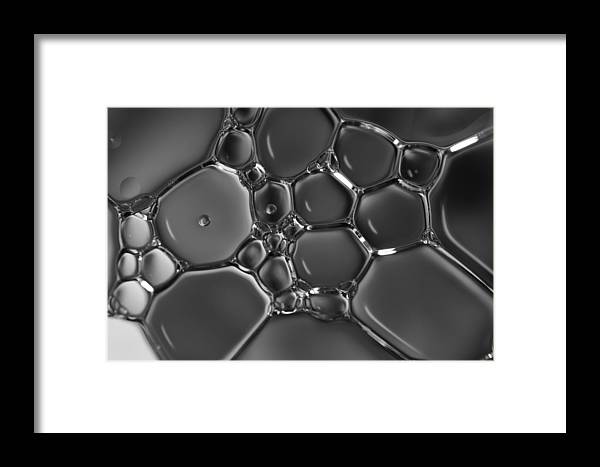 Black And White Framed Print featuring the photograph Oil Mosaic by Baptiste De Izarra