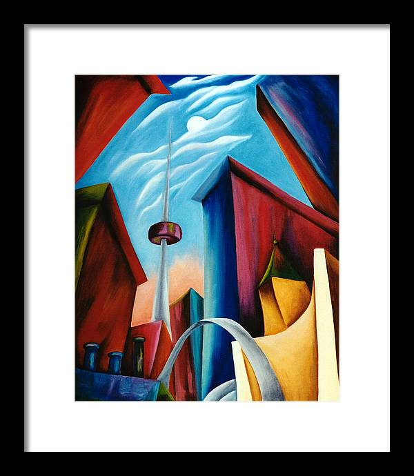Toronto Landscape Framed Print featuring the painting O'keeffe's Toronto by Lynn Soehner