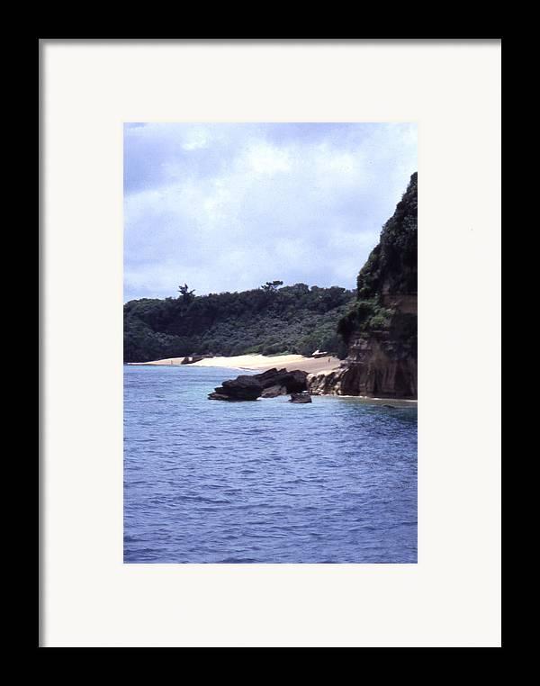 Okinawa Framed Print featuring the photograph Okinawa Beach 10 by Curtis J Neeley Jr