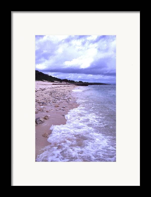 Okinawa Framed Print featuring the photograph Okinawa Beach 17 by Curtis J Neeley Jr