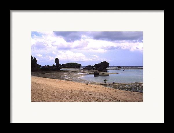 Okinawa Framed Print featuring the photograph Okinawa Beach 18 by Curtis J Neeley Jr