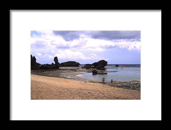 Okinawa Framed Print featuring the photograph Okinawa Beach 18 by Curtis J Neeley Jr
