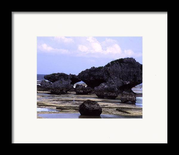 Okinawa Framed Print featuring the photograph Okinawa Beach 2 by Curtis J Neeley Jr
