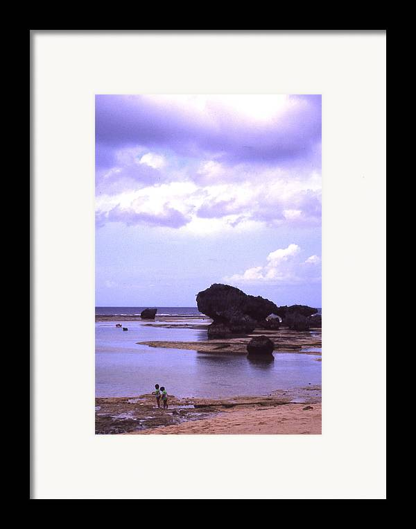 Okinawa Framed Print featuring the photograph Okinawa Beach 20 by Curtis J Neeley Jr