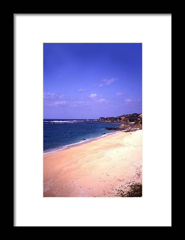 Okinawa Framed Print featuring the photograph Okinawa Beach 22 by Curtis J Neeley Jr