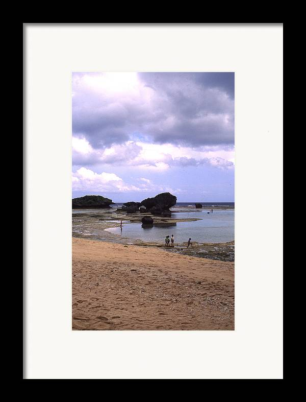 Okinawa Framed Print featuring the photograph Okinawa Beach 3 by Curtis J Neeley Jr