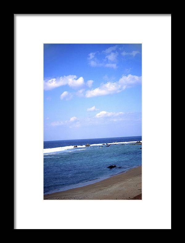 Okinawa Framed Print featuring the photograph Okinawa Beach 7 by Curtis J Neeley Jr