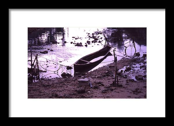 Framed Print featuring the photograph Okinawa Canoe Parking by Curtis J Neeley Jr