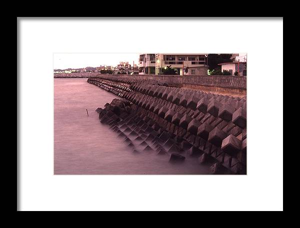 Okinawa Framed Print featuring the photograph Okinawa Waves by Curtis J Neeley Jr