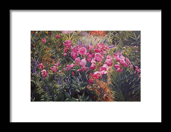 Konkol Framed Print featuring the painting Olbrich Garden Series - Garden 1  by Lisa Konkol