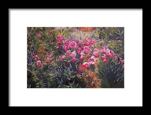 Konkol Framed Print featuring the painting Olbrich Garden Series - Garden 1  by Lisa Konkol
