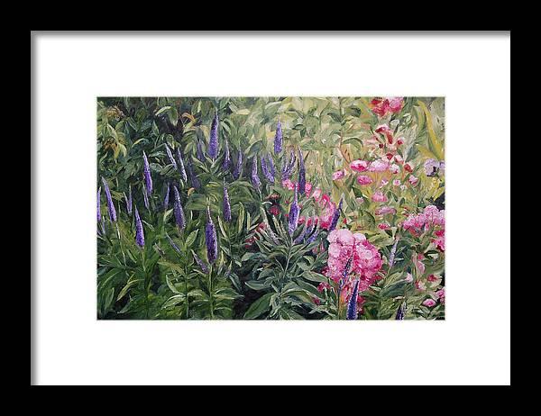 Konkol Framed Print featuring the painting Olbrich Garden Series - Garden 2 by Lisa Konkol