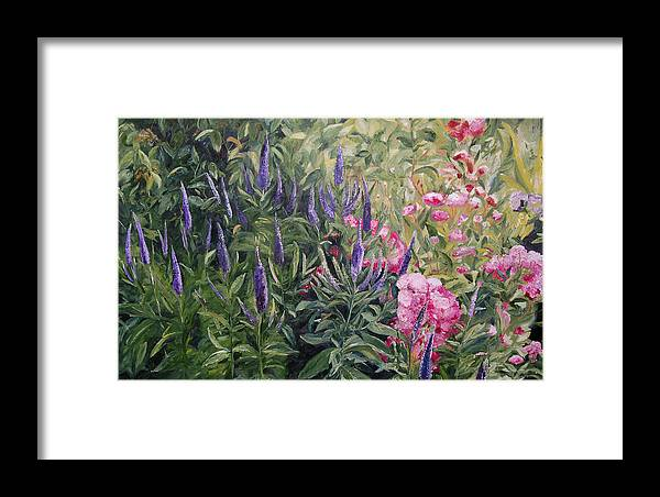 Konkol Framed Print featuring the painting Olbrich Garden Series - Garden 2 by Lisa Konkol