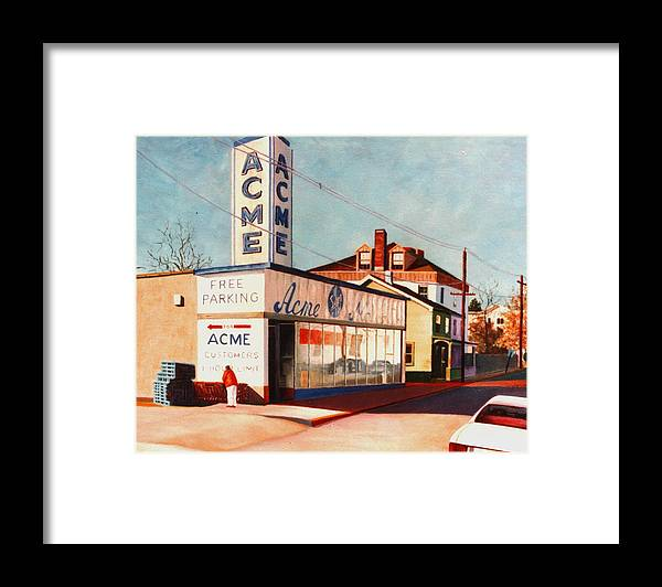 Supermarket Framed Print featuring the painting Old Acme Lambertville Nj by Robert Henne