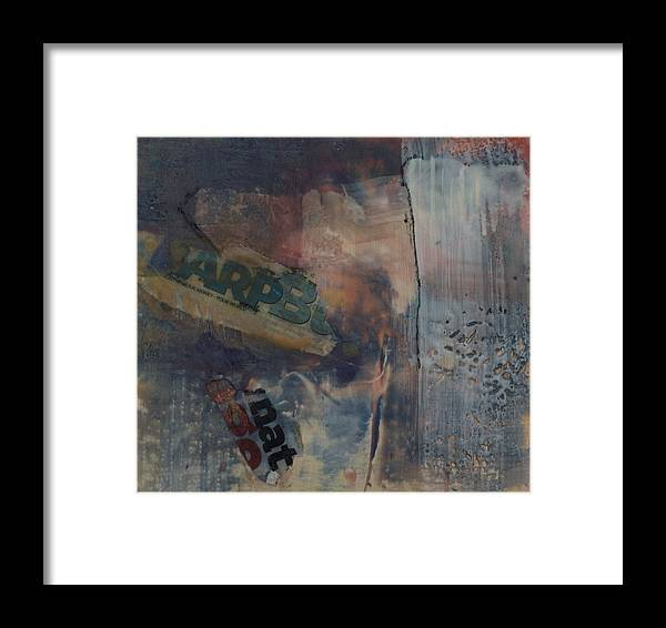 Abstract Framed Print featuring the painting Old Again by Kevin Stevens