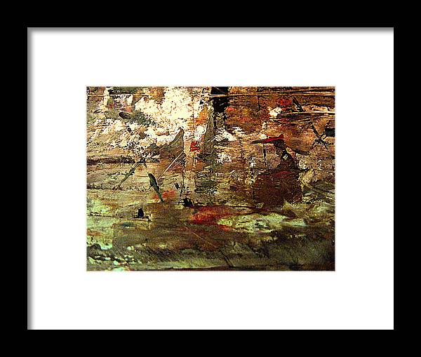 Abstract Acrylic Painting Framed Print featuring the painting Old Age by Nancy Kane Chapman