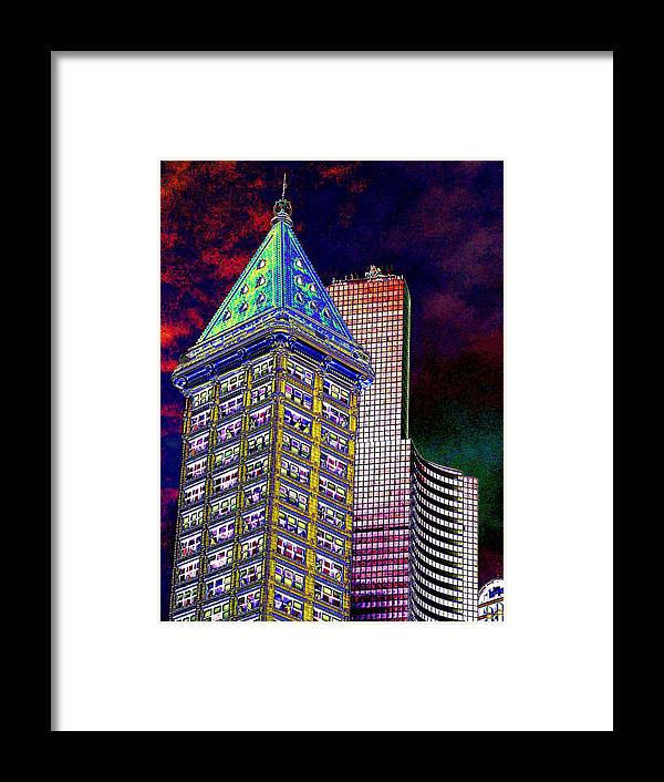 Seattle Framed Print featuring the photograph Old And New Seattle 2 by Tim Allen