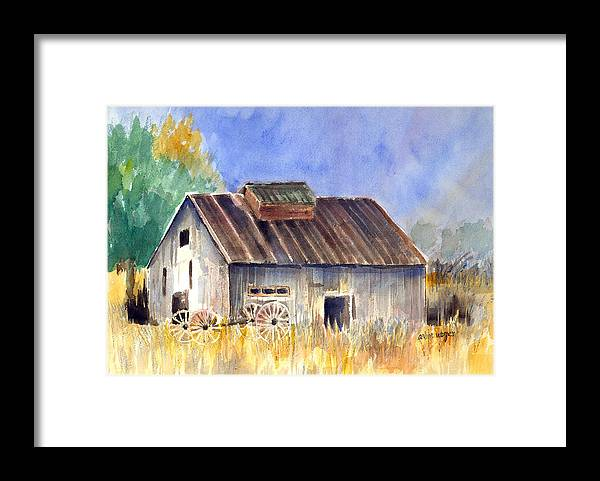 Barn Framed Print featuring the painting Old Barn by Arline Wagner
