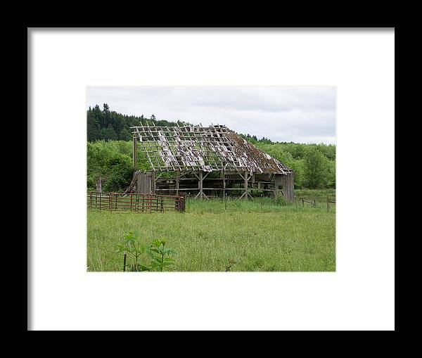 Barn Framed Print featuring the photograph Old Barn Bones Washington State by Laurie Kidd