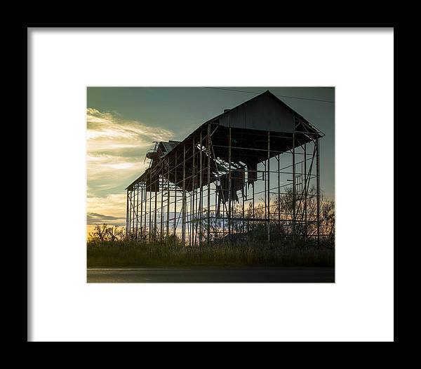 Old Framed Print featuring the photograph Old Barn by Paul Gibson