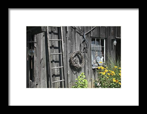 Barn Framed Print featuring the photograph Old Barn II by Margie Wildblood