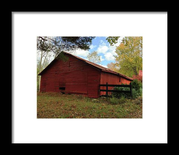 Framed Print featuring the photograph Old Barn by Iris Posner
