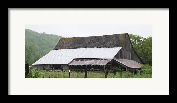 Old Framed Print featuring the photograph Old Big Barn Washington State by Laurie Kidd