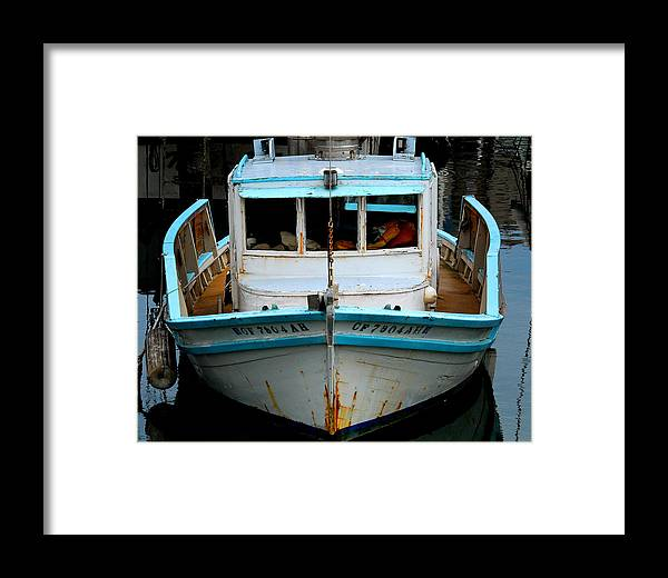 Old Fishing Boat.boat Framed Print featuring the photograph Old Boat by Craig Incardone