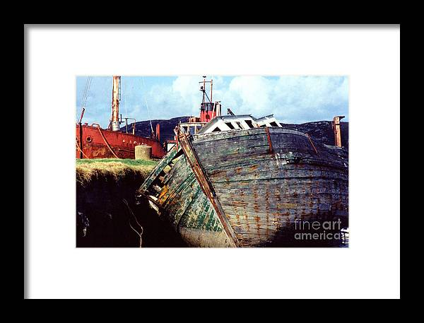 Old Boat Framed Print featuring the photograph Old Boat by PJ Cloud