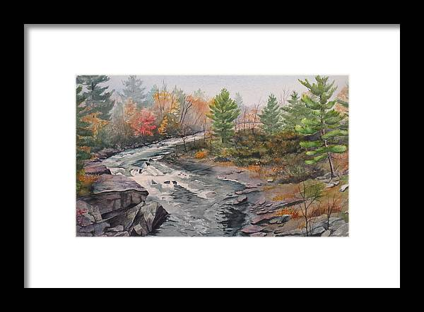Burleigh Framed Print featuring the painting Old Burleigh Stream by Debbie Homewood