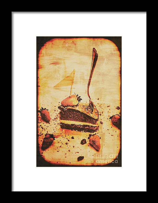 Vintage Framed Print featuring the photograph Old Cake Break by Jorgo Photography - Wall Art Gallery