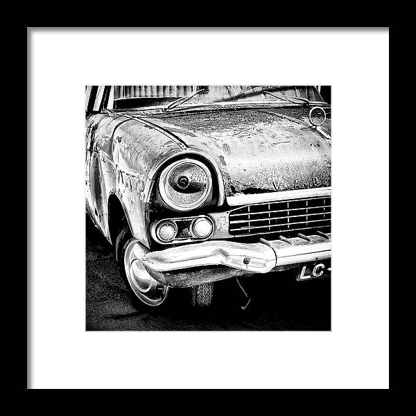 Car Framed Print featuring the photograph Old Car by Nelson Mineiro