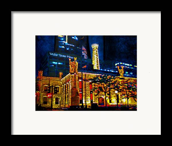 Chicago Framed Print featuring the painting Old Chicago Pumping Station by Michael Durst