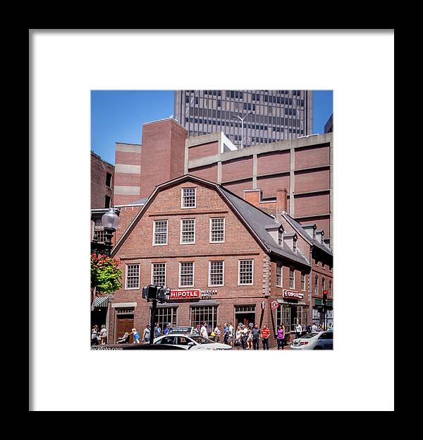 Old Corner Book Store Eckfoto Boston Freedom Trail Framed Print featuring the photograph 19- Old Corner Book Store Eckfoto Boston Freedom Trail by Jean-Louis Eck