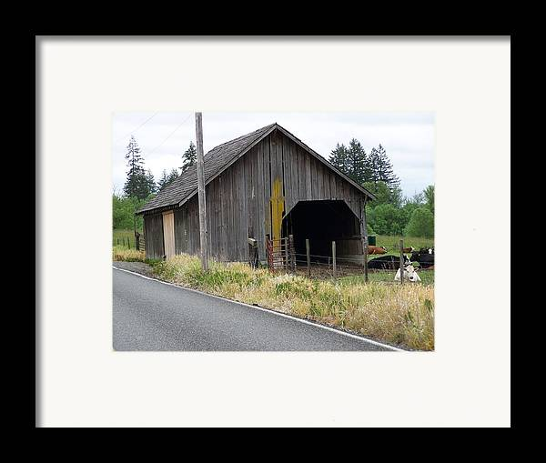 Barn Framed Print featuring the photograph Old Cow Barn Washington State by Laurie Kidd