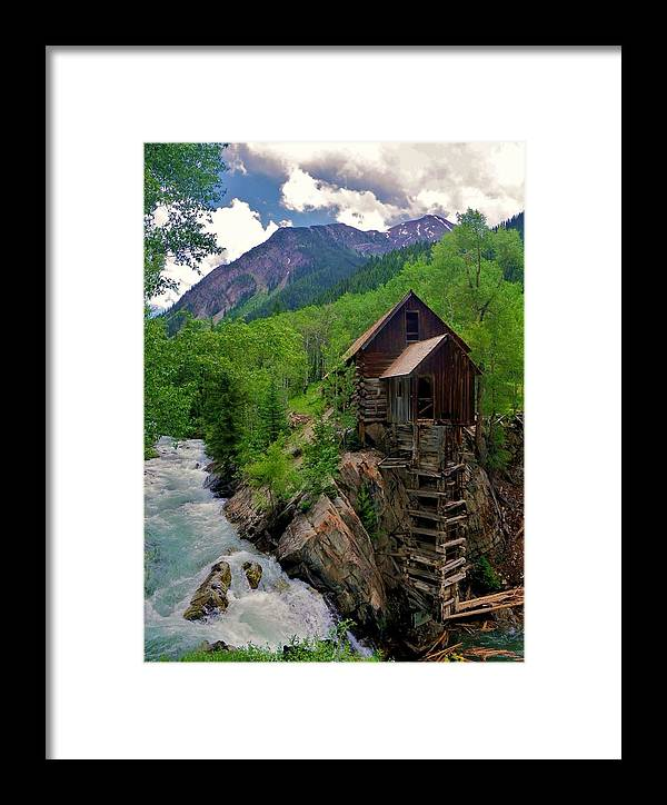 Crystal Mill Framed Print featuring the photograph Old Crystal Mill by Matt Helm