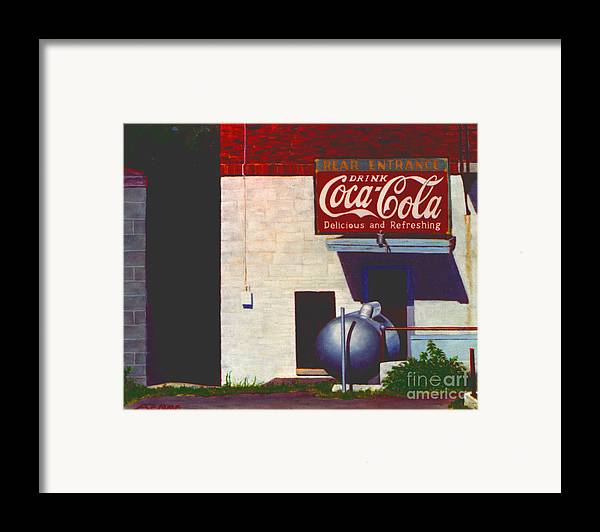 Deli Framed Print featuring the painting Old Deli by Robert Henne