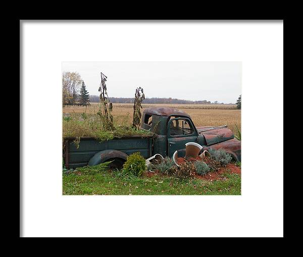 Landscape Framed Print featuring the photograph Old Dodge New Job by Peggy King