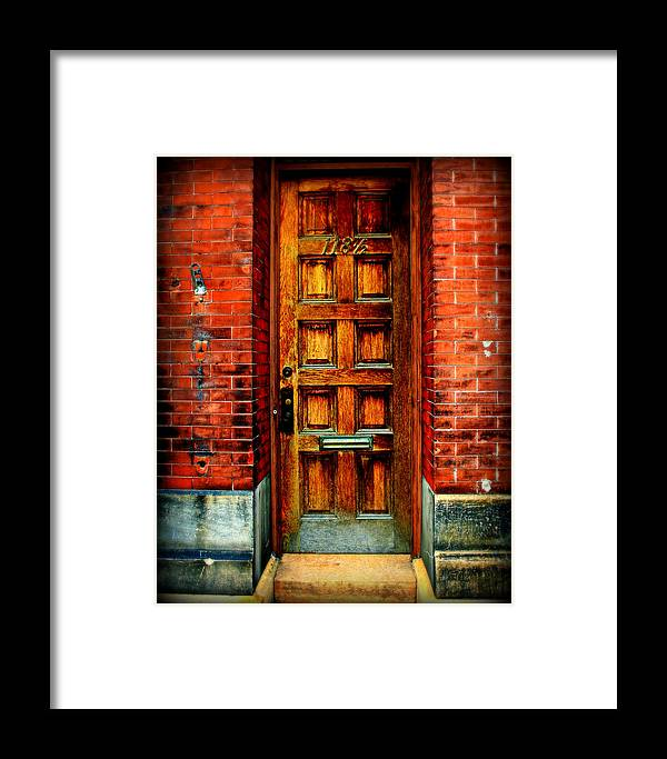 Brick Framed Print featuring the photograph Old Door by Perry Webster