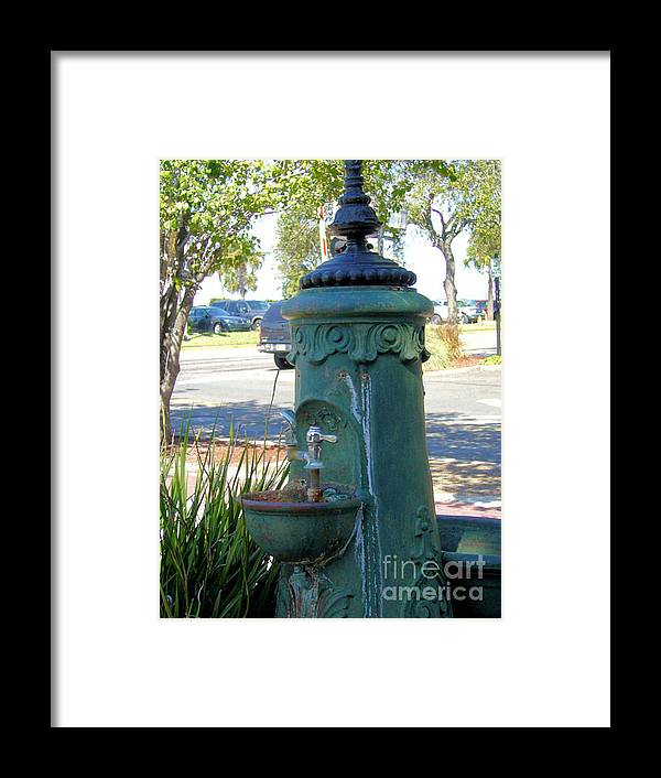 Antique Framed Print featuring the photograph Old Drinking Fountain by Barbara Oberholtzer
