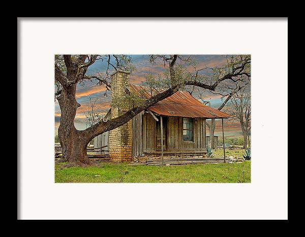 Old Farm House Framed Print By Robert Anschutz