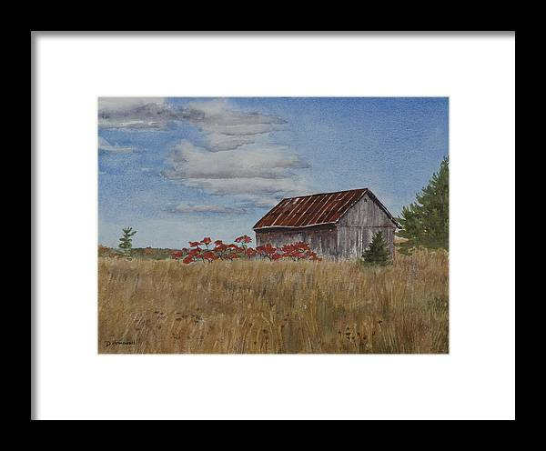 Farm Framed Print featuring the painting Old Farmer's Barn by Debbie Homewood