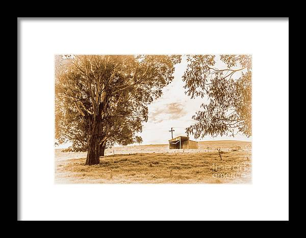 Farm Framed Print featuring the photograph Old Farmstead Shack by Jorgo Photography - Wall Art Gallery