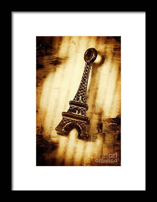 Souvenir Framed Print featuring the photograph Old Fashion Eiffel Tower Souvenir by Jorgo Photography - Wall Art Gallery