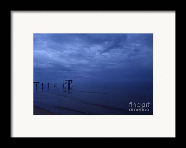Pier Framed Print featuring the photograph Old Fishing Pier by Timothy Johnson