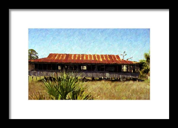 Landscape Framed Print featuring the photograph Old Florida by Michael Morrison