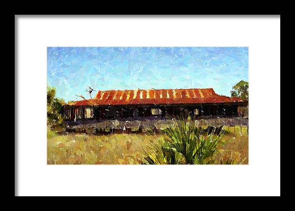 Old Florida Framed Print featuring the photograph Old Florida Paint by Michael Morrison