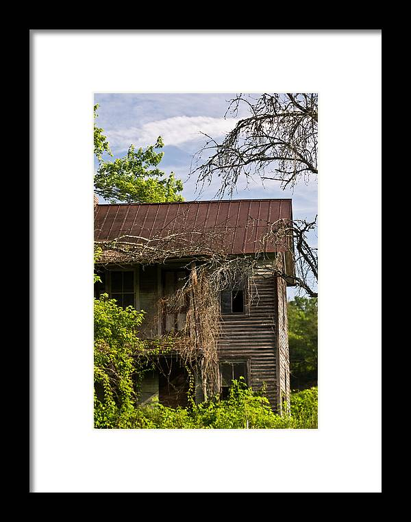 Old Framed Print featuring the photograph Old Forgotten Farm House by Douglas Barnett