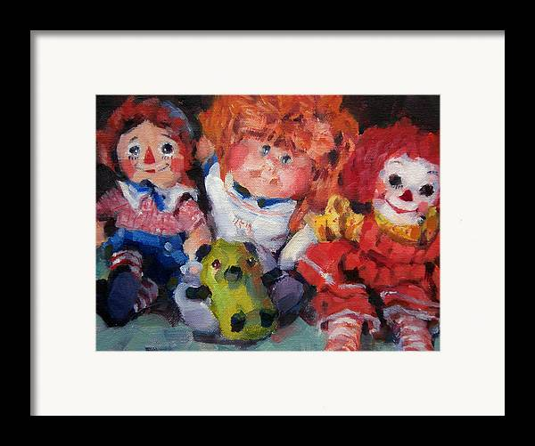 Toys Framed Print featuring the painting Old Friends by Merle Keller